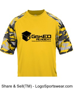 Youth Camo Sport Tee Design Zoom